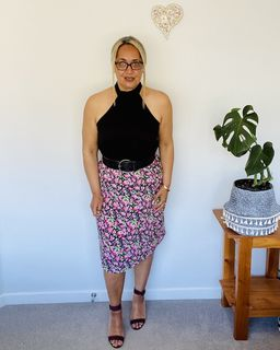 LAURA ASHLEY Floral Skirt